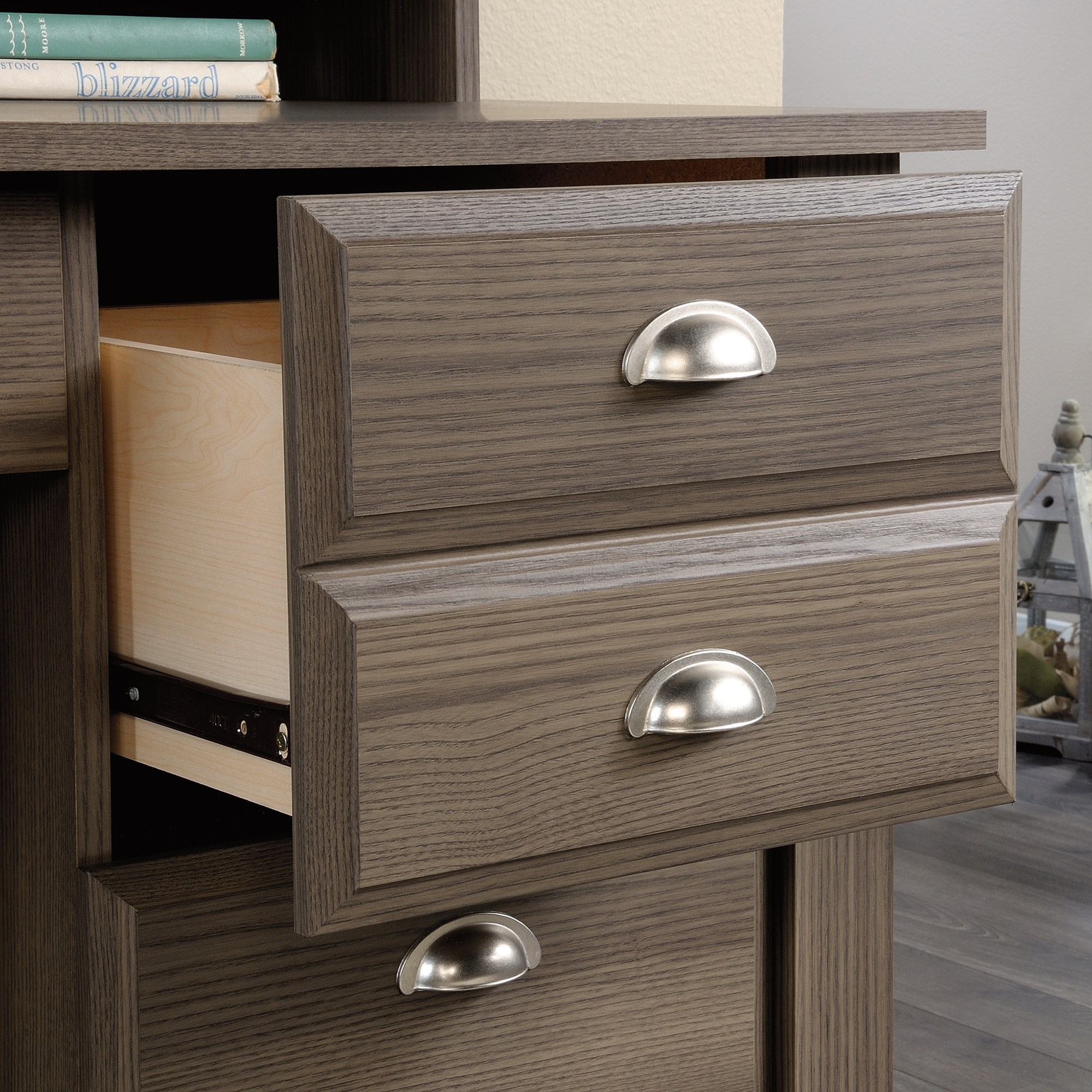 Levitz Furniture Stores: Sauder Shoal Creek 418657 Desk With Keyboard Drawer