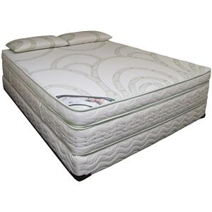 Queen Pillow Top Memory Foam Mattress Set