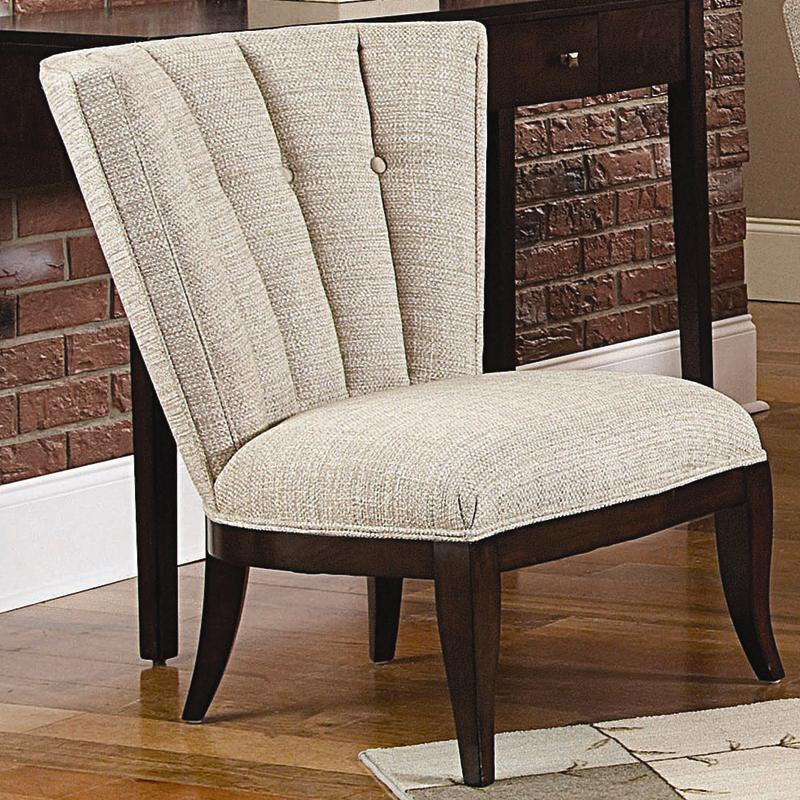 Sofa Mart Accent Chairs: Schnadig Ava Armless Accent Chair With Tufted Channel Back