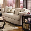 Schnadig Ava Contemporary Barrel Back Sofa with Button Accents and Silk Throw Pillows - 8450-082-A