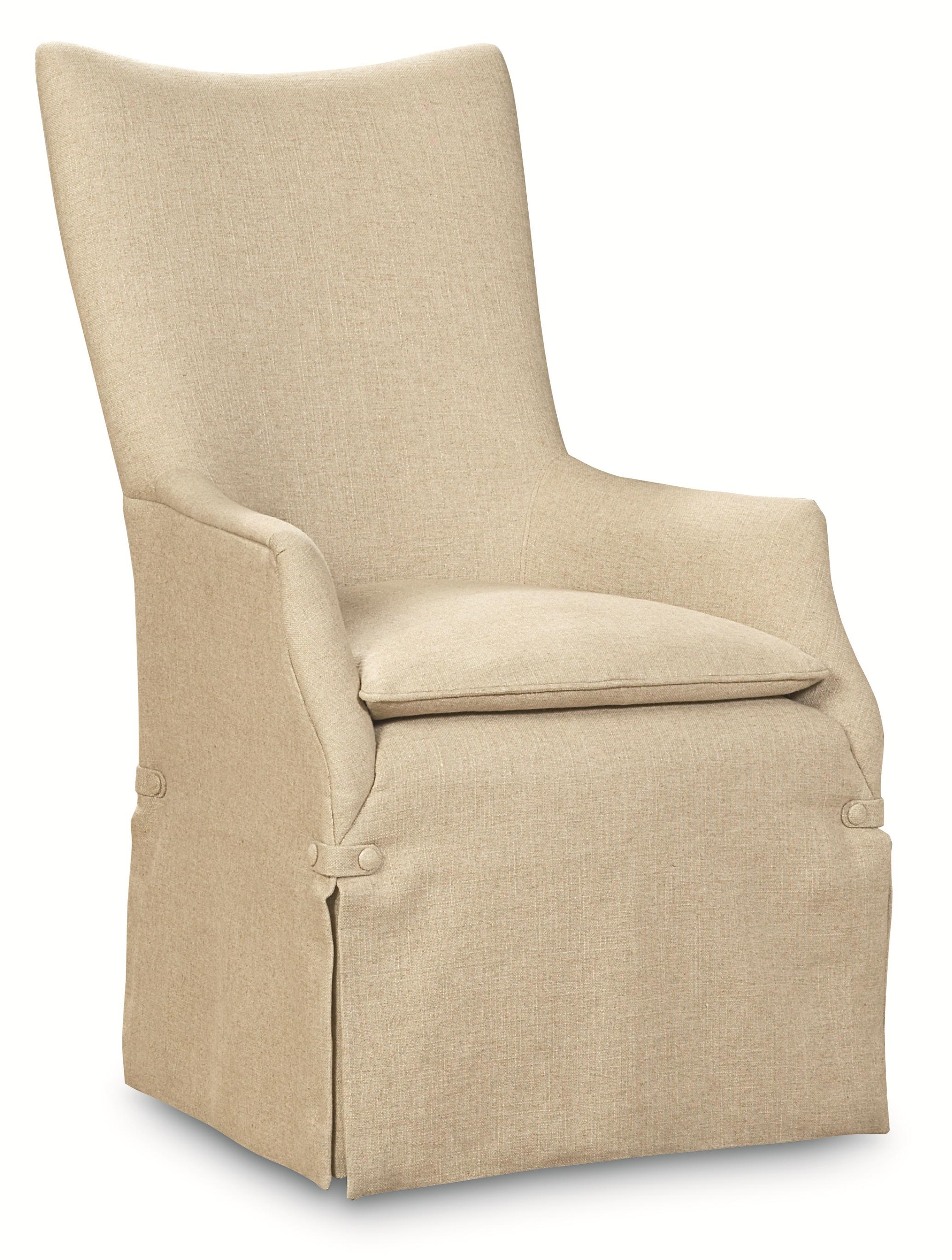 """Caracole Classic """"watch My Back"""" Upholstered Arm Chair by Caracole at Baer's Furniture"""