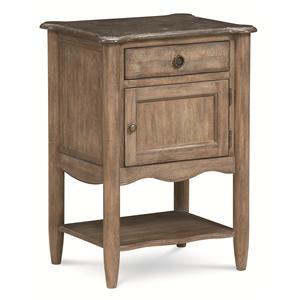 Cobblestone Bedroom Single Drawer, Single Door Night Table by Schnadig