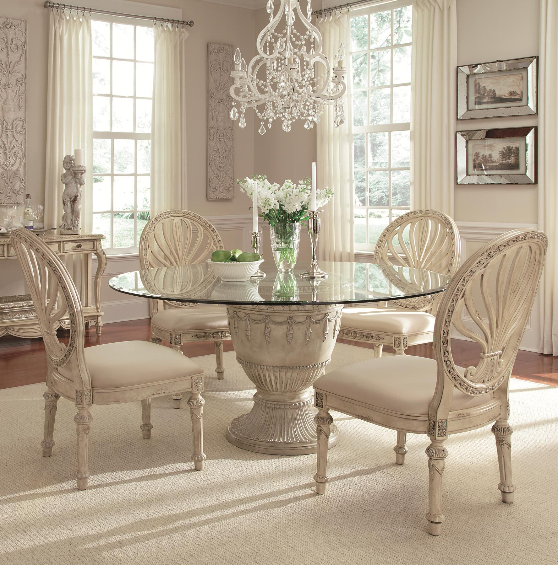 95 Empire Dining Room Table Dining Room Empire Odessa Inlaid