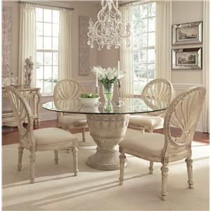 Schnadig Empire II 5 Piece Round Table Dining Set