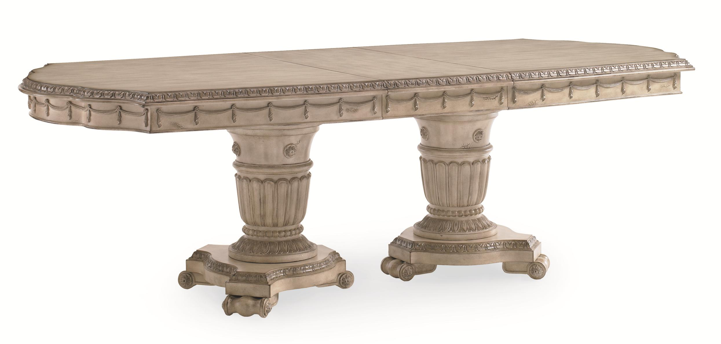 luxury table concept gray design dining saratoga pedestal double of abbott large