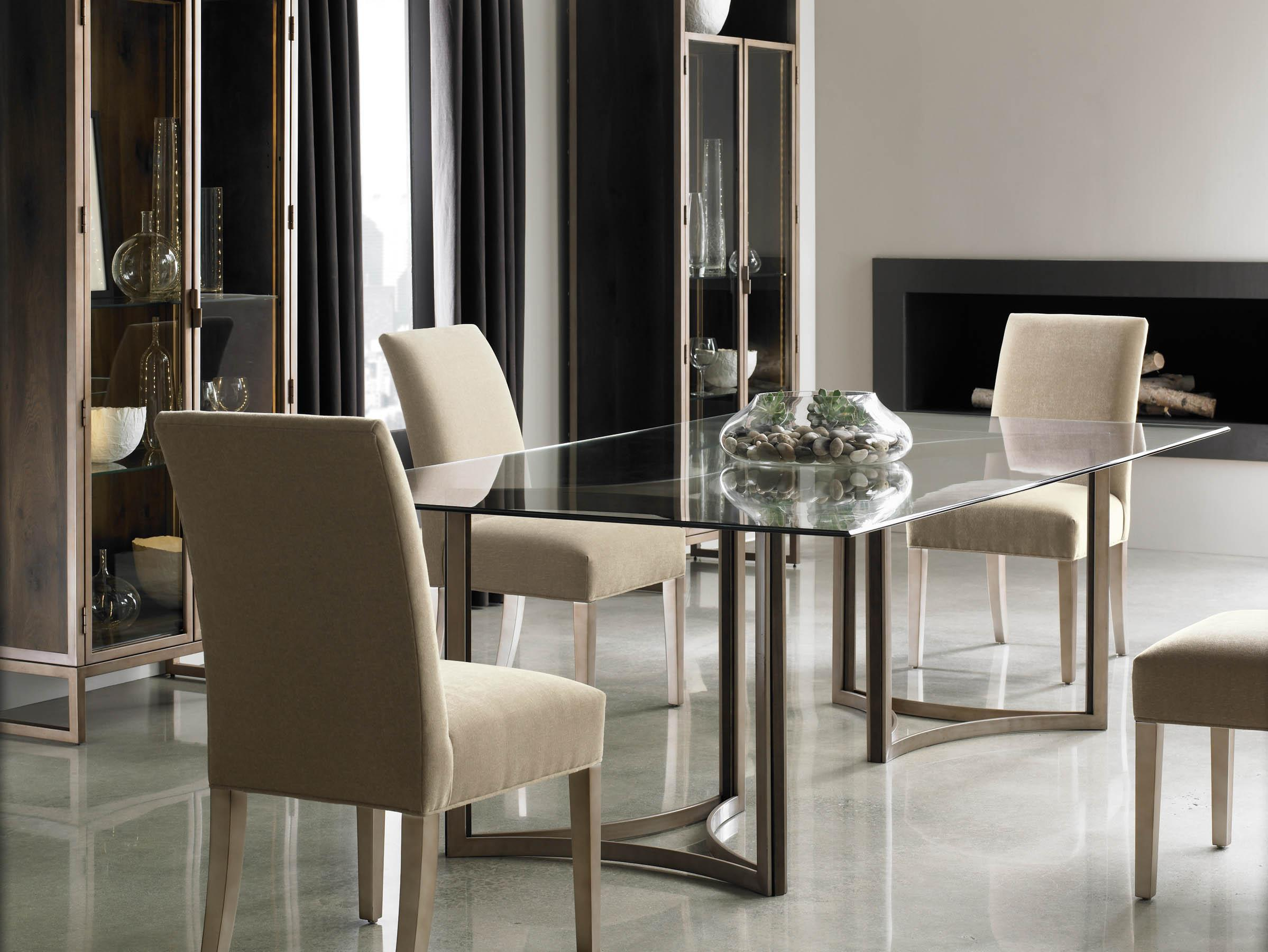 schnadig dining room set   Schnadig Modern Artisan In the Clear Dining Table and ...