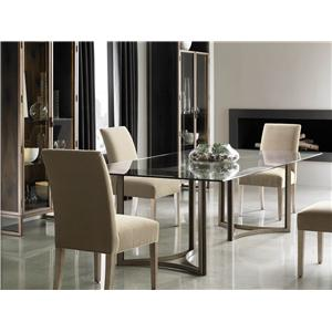 Schnadig Modern Artisan In the Clear Table & Artisans Chair Set