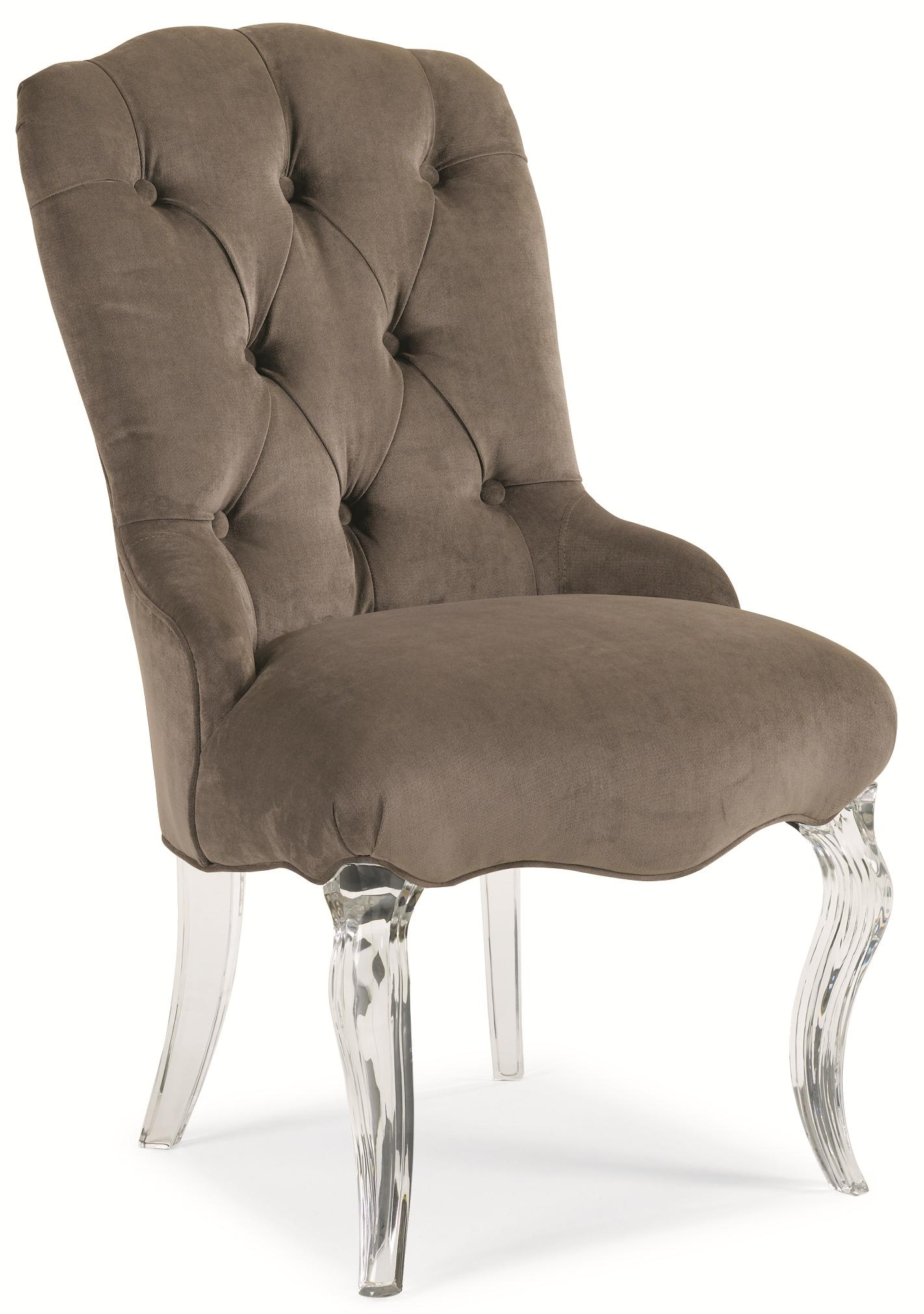 "Schnadig Caracole - New Traditional ""Glass Slipper"" Side Chair - Item Number: tra-sidcha-009"