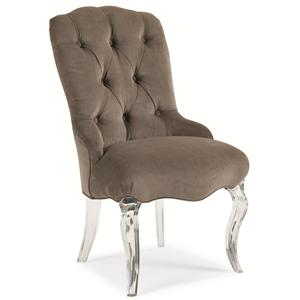 "Schnadig Caracole - New Traditional ""Glass Slipper"" Side Chair"