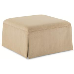 "Schnadig Caracole - New Traditional ""Off-Season"" Upholstered Ottoman"