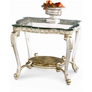 High Quality Schnadig Regency Silver Palace End Table