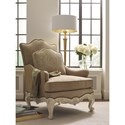 Schnadig Wyeth Exposed Wood Chair with Diamond Nailhead Trim