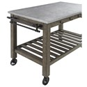 Scott Living 100527 Industrial Kitchen Island with Casters