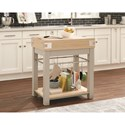 Scott Living 10298 Kitchen Island with Removable Cutting Board