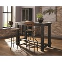Scott Living 104968 Adjustable Industrial Bar Stool