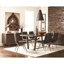 Scott Living 107852 Modern Tufted Dining Chair