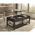 Scott Living 70568 Transitional Lift Top Coffee Table