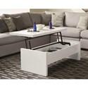 Scott Living 72124 Modern Glossy Lift Top Coffee Table