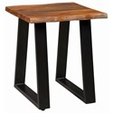 Scott Living 72182 Modern Rustic Side Table with Live Edge