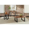 Scott Living 72182 Modern Rustic Coffee Table with Live Edge