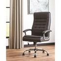 Scott Living 801528 Black Leatherette Office Chair