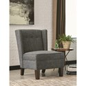 Scott Living 903369 Upholstered Accent Chair with Wing Back Design