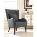Scott Living 903370 Winged Accent Chair with Curving Arms and Backrest