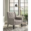 Scott Living 903379 Accent Chair with Demi-Wings and Button Tufting