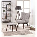 Scott Living 903820 Mid-Century Modern Accent Chair With Ottoman
