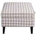 Scott Living 910140 Houndstooth Storage Ottoman