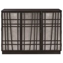 Scott Living 950733 Contemporary Accent Cabinet with Geometric Design