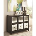 Scott Living 950776 Modern Accent Cabinet with Mirrored Drawers