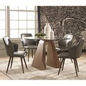 Scott Living Abbott Table and Chair Set - Item Number: 107921+4x107922