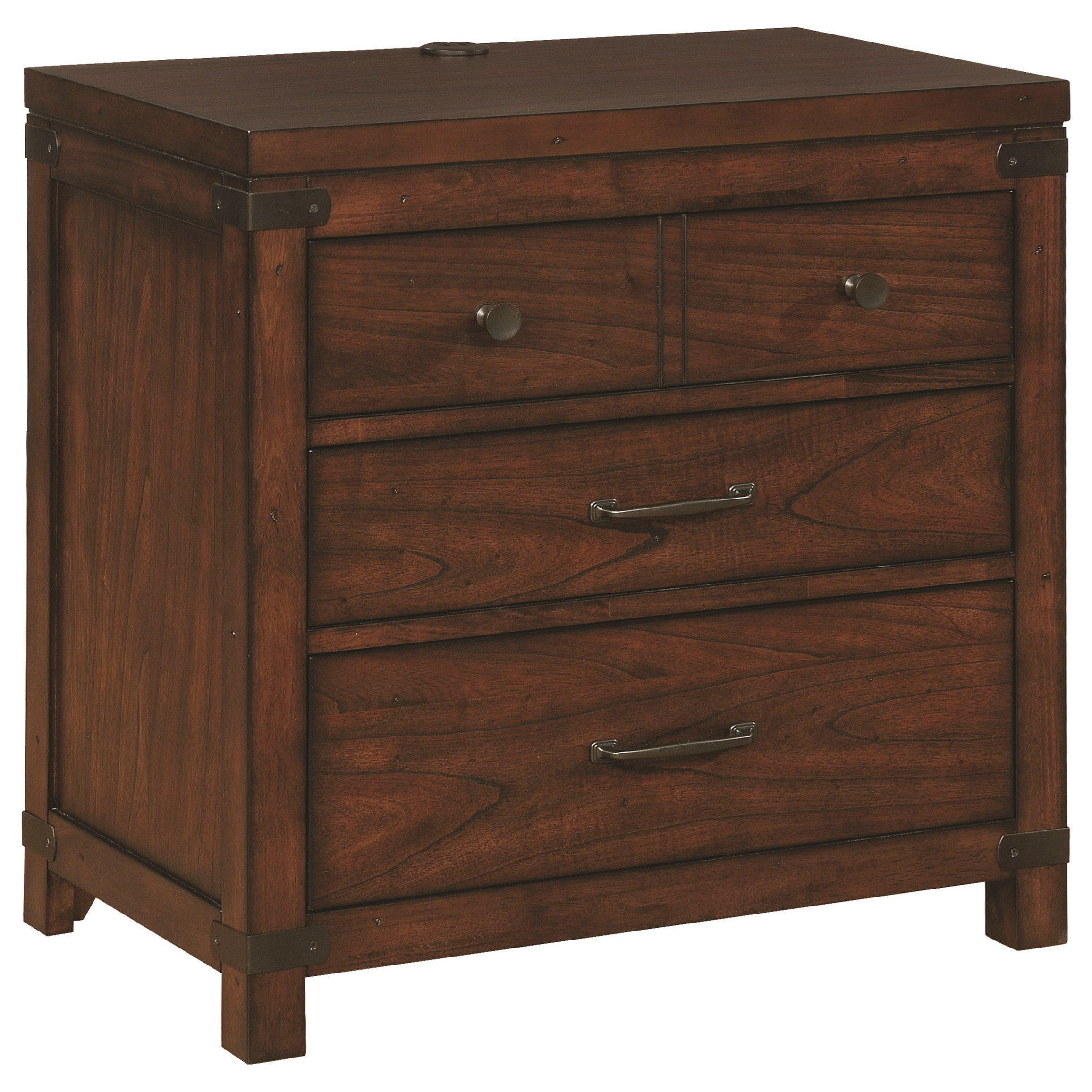 Scott Living Artesia 3 Drawer Nightstand - Item Number: 204476