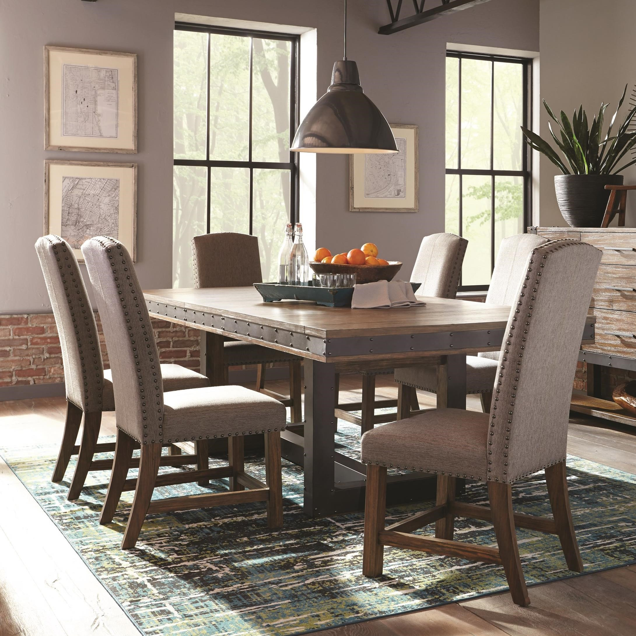 Dining And Living Room Furniture: Scott Living Atwater Industrial Distressed Table And Chair