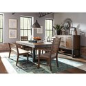 Scott Living Atwater Dining Room Group with Bench - Item Number: Atwater Dining Room Group 2