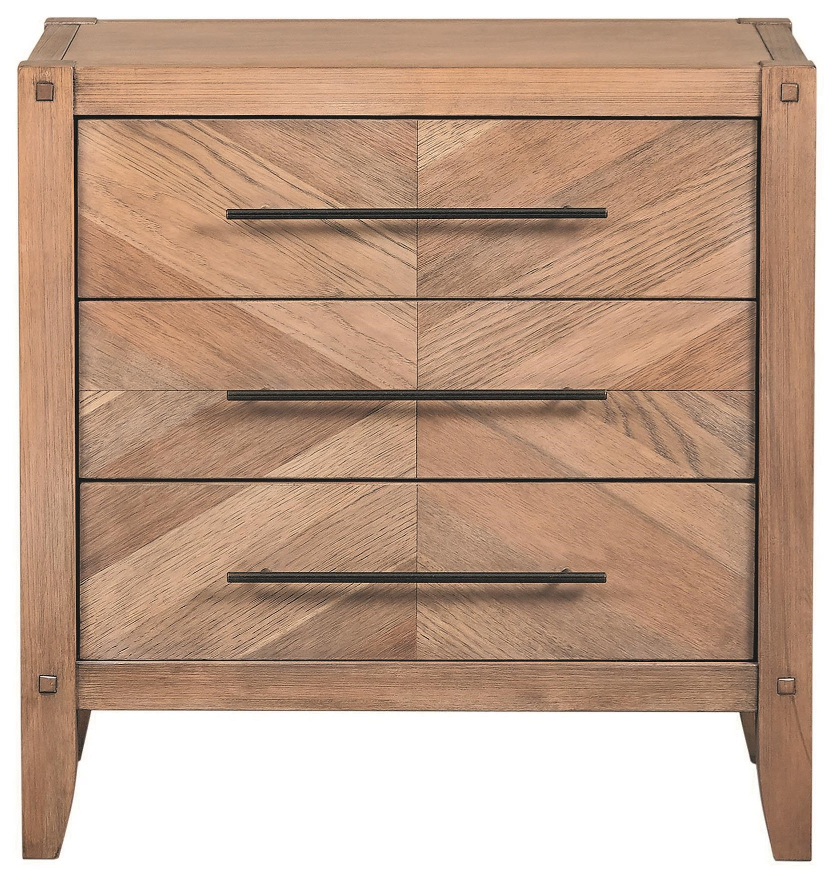 Scott Living Auburn 3 Drawer Nightstand - Item Number: 204612