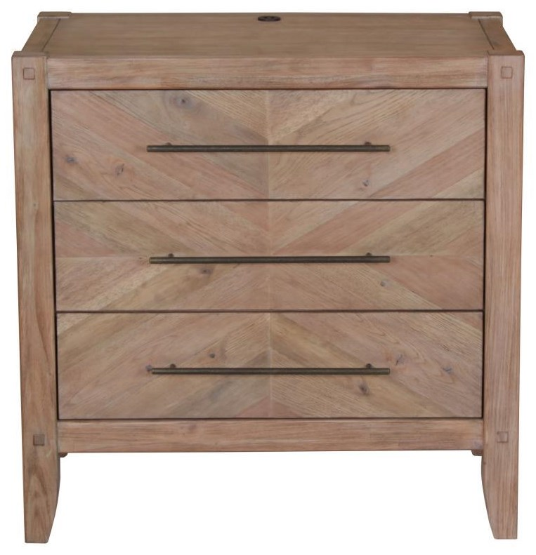 Scott Living Auburn 3 Drawer Nightstand - Item Number: 204612