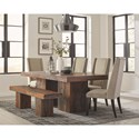 Scott Living Binghamton Dining Table Set - Item Number: 107481+107483+4x103130