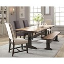 Scott Living Burnham Dining Table Set with Bench - Item Number: 107791+107793+2x102819+2x102820
