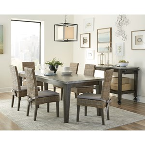 Scott Living Davenport Rustic Dining Room Group