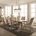 Scott Living Glen Cove Table and Chair Set - Item Number: 107731+2x107733+4x107732