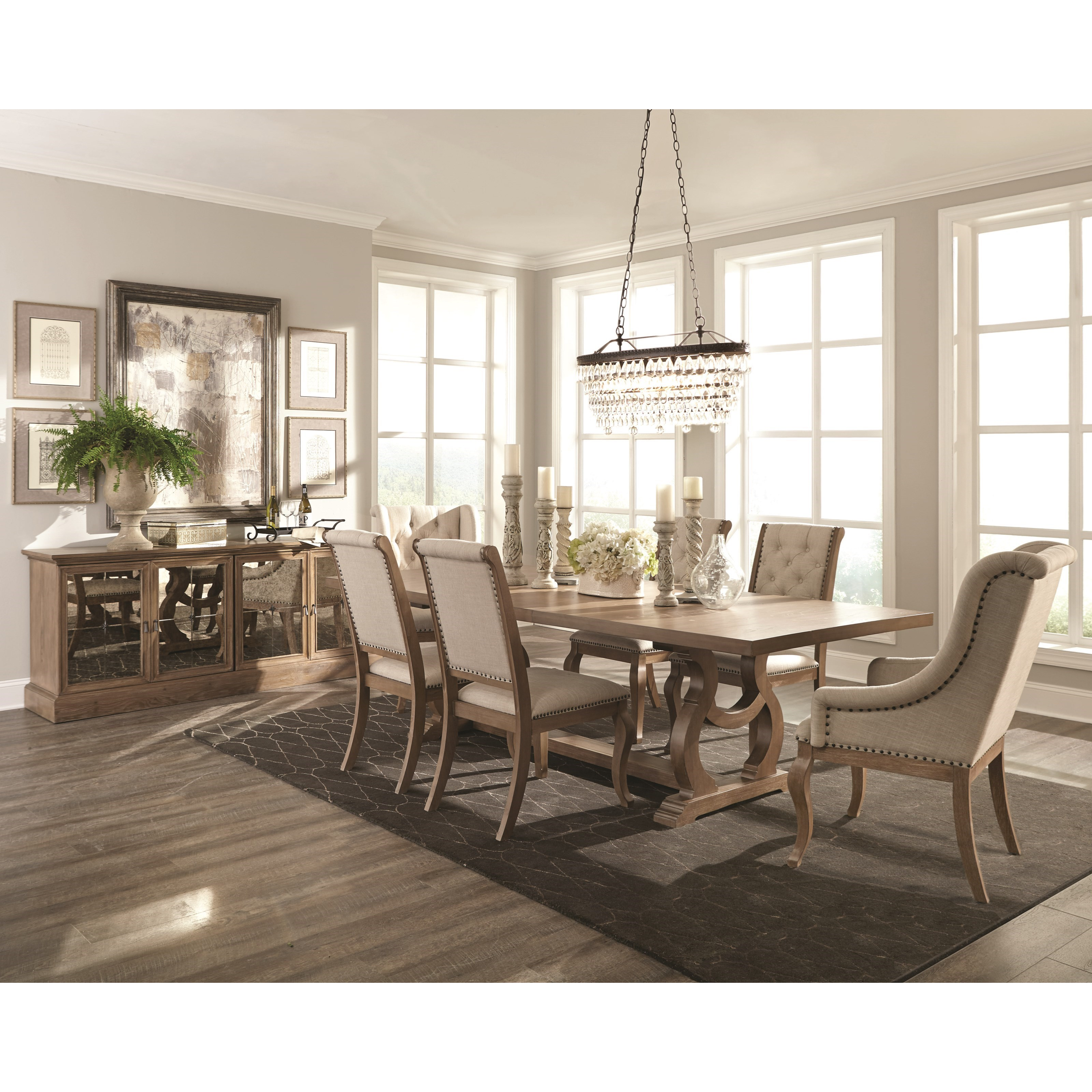 Dining And Living Room Furniture: Scott Living Glen Cove Traditional Server With Mirrored
