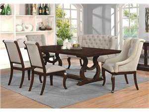 6PC Dining Set w/ Bench