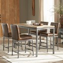 Scott Living Heaton Five Piece Counter Height Table Set - Item Number: 190628+4x190629