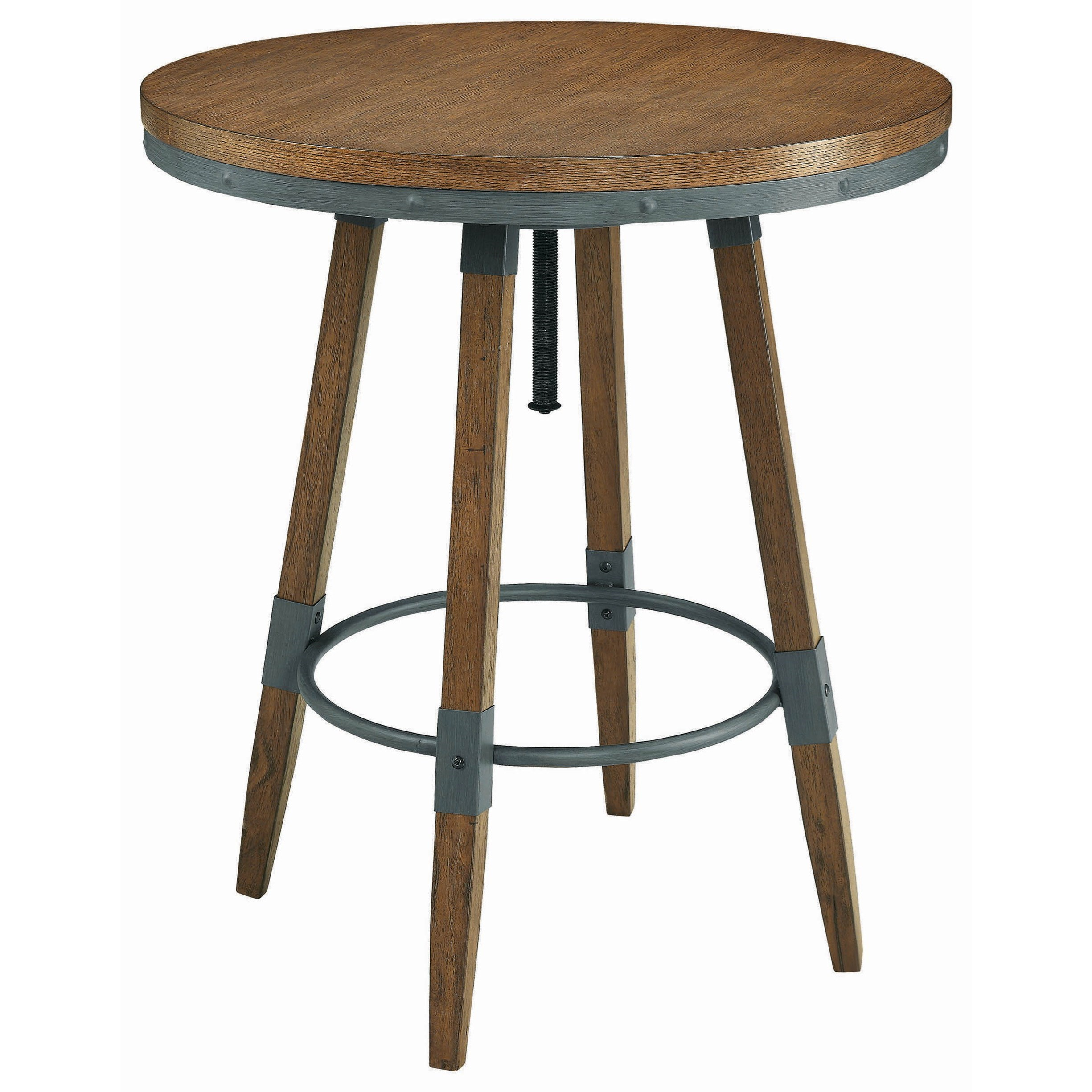 Hornell Rustic Adjule Bar Table By Scott Living At Rotmans
