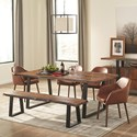 Scott Living Jamestown Dining Room Set - Item Number: 107511+107513+4x103547