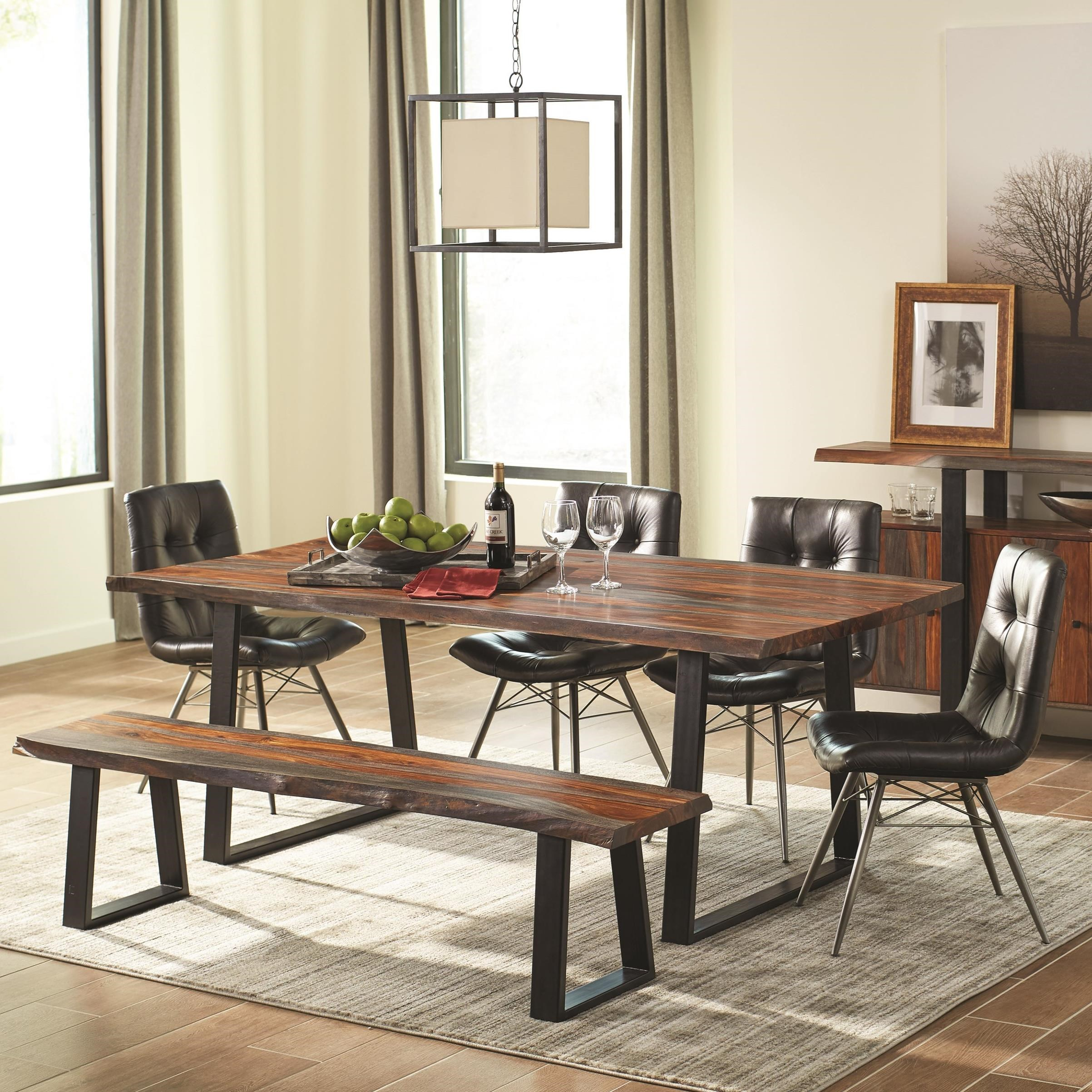 City Furniture Dining Room: Scott Living Jamestown Rustic Dining Room Set With Bench
