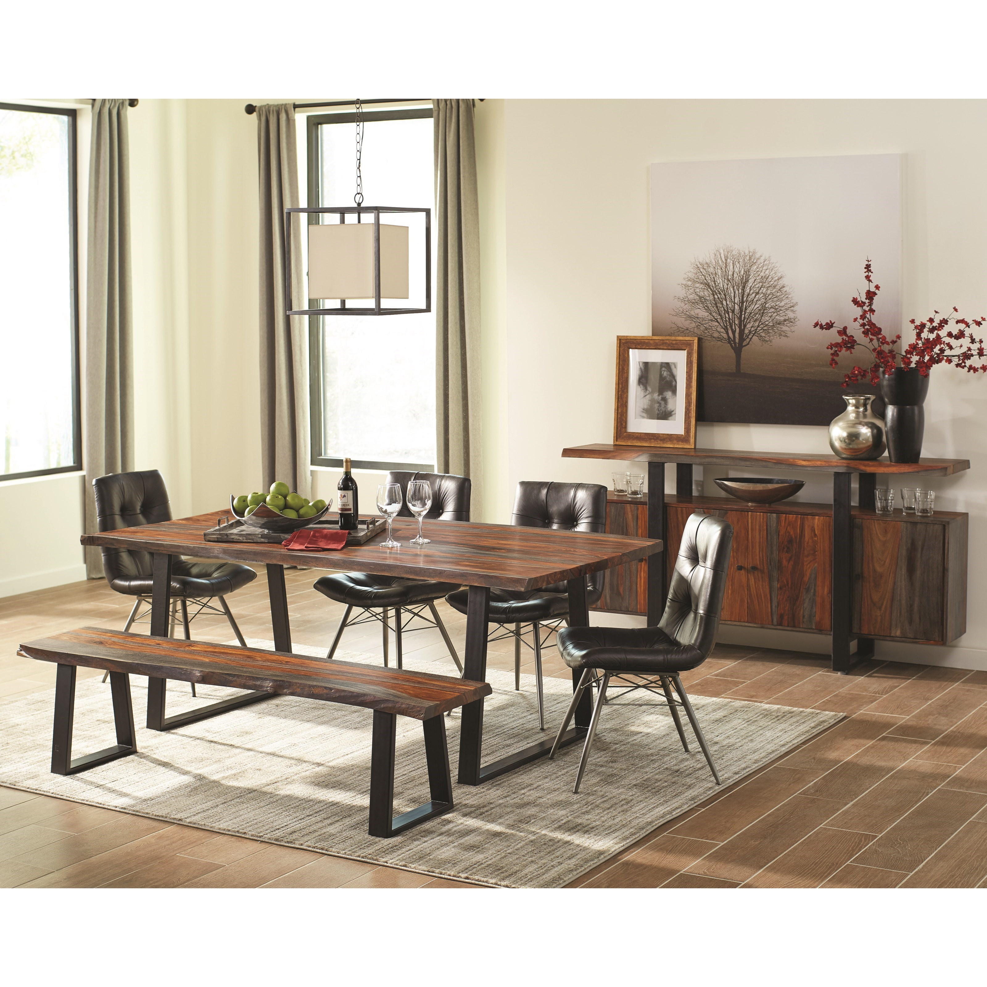Scott Living Jamestown Rustic Dining Room Set With Bench