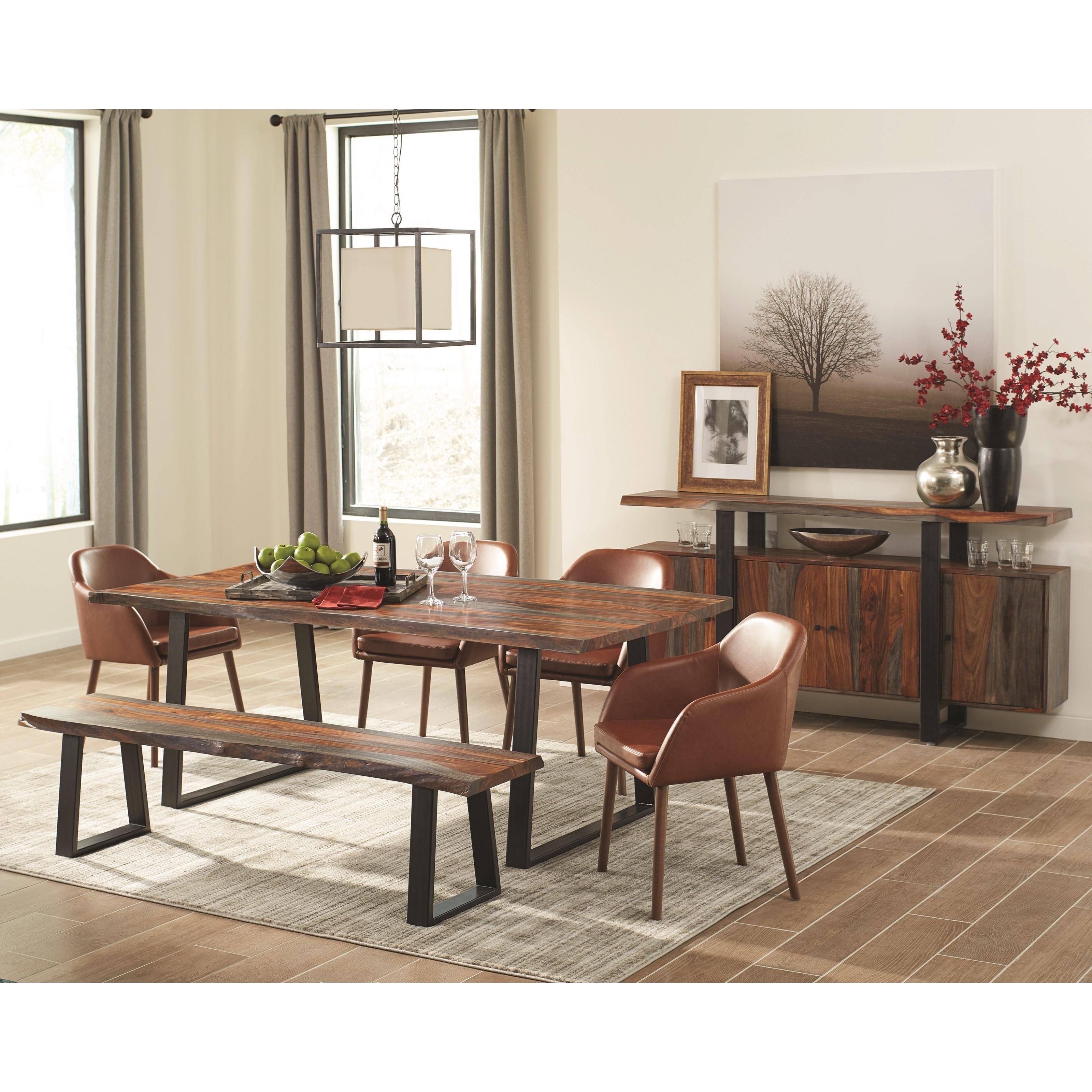 Levitz Furniture Store Locations: Scott Living Jamestown 107515 Rustic Sheesham Wood Server